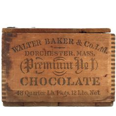 [SOLD] Antique Baker's Chocolate Box  Vintage Wood Crate  by ProvinceShop