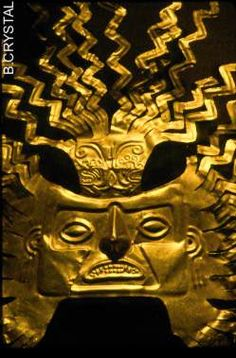 INCA Gold Mask (Ecuador) (shame the rest was all sold! Ancient Peruvian, Peruvian Art, Historical Artifacts, Ancient Artifacts, Arte Latina, Inca Empire, Inka, Mesoamerican, Ancient Jewelry