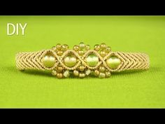 ▶ Wavy Chevron Bracelet with Beads - Tutorial - YouTube