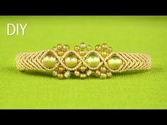 Macrame Double Wave Bracelet - Tutorial - YouTube Más Más