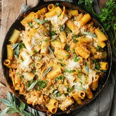 Pumpkin Baked Ziti with Sage Sausage. Everyone needs a little savory pumpkin in their life.