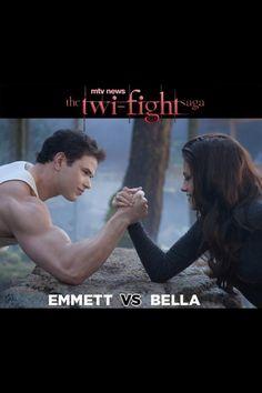 Twilight - it's hilarious because she beats him.