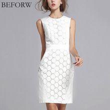 Beforw summer dress mulheres sexy sem mangas de cor sólida magro tamanho grande vestidos casuais moda plus size white lace mini dress(China (Mainland))