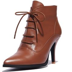 62.54$  Watch here - http://ali0uv.worldwells.pw/go.php?t=32703300715 - Thin Heels 9 cm ankle boots Grain Leather ladies women shoes Pointed Toe woman casual shoes Beautiful fashion Boots