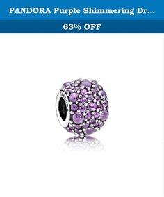PANDORA Purple Shimmering Droplets Charm 791755CFP. PANDORA Charm Purple Shimmering Droplets with Fancy Purple Cubic Zirconia Charm 791755CFP.