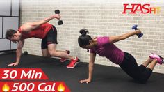 Workout Tips – Video : 30 Minute HIIT Workout for Fat Loss & Strength – Dumbbell Full Body HIIT Home Workout with Weights – Fitness Magazine Tabata, 30 Min Hiit Workout, Home Weight Workout, Hiit Workouts With Weights, Workout Videos, At Home Workouts, Cardio Workouts, Dumbbell Workout, Body Workouts
