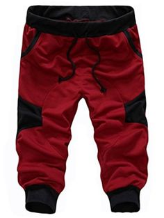 SoEnvy Men's Casual Harem Training Jogger Sport Short Baggy Pants X-Large Wine Red Material: cotton, 65 polyester Brand New with Tag High quality materials and stretchable,comfortable to wear Hand wash, Dry clean Fashionable design Best Joggers, Jogger Sweatpants, Jogging, Casual Pants, Men Casual, Cargo Pants Men, Mens Activewear, Sport Shorts, Men Shorts