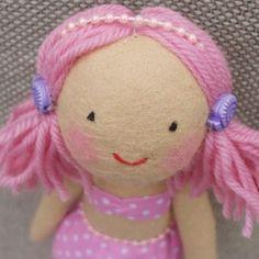 Mermaid Doll | Pretty Pink Polka Dot
