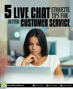 Are you getting the most out of your #LiveChat customer support? Check out these 5 etiquette tips when communicating with customers through web chat.