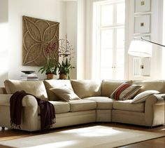 Pearce Sectional in everydaysuede is family/pet friendly and extremely durable. Distinguished by its soft matte fabric, generous rolled arms...