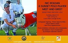 Tomorrow Sunday join me at the International Polo Club in Wellington for the Meet and Greet with Nic Roldan and my photo exhibit of Nic's trip to Guatemala where we were able to experience firsthand the extraordinary work that The Brooke USA does for the welfare of working horses and the families that benefit from them. I wait for you. |Mañana domingo acompáñame en el International Polo Club en Wellington para el Meet and greet con Nic Roldan y mi exhibición de fotos de su viaje a Guatemala…