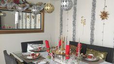 Tour sala comedor Navidad. Tour room and dinimg room, Christmas