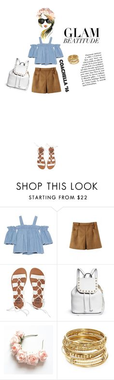 """Glam Beatitude - COACHELLA!"" by pokets ❤ liked on Polyvore featuring SJYP, WithChic, Billabong, Rebecca Minkoff, ABS by Allen Schwartz and modern"