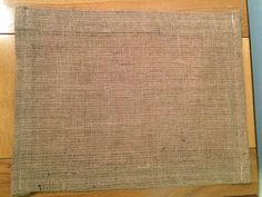 Check out this item in my Etsy shop https://www.etsy.com/uk/listing/270512124/hessian-table-placemats-30cm-x-40cm