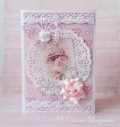Birthday card female, shabby roses chic, retro lady pink in Home, Furniture & DIY, Celebrations & Occasions, Cards & Stationery | eBay!