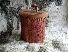 Rustic Birch-bark container with handle for by BirchBirds on Etsy