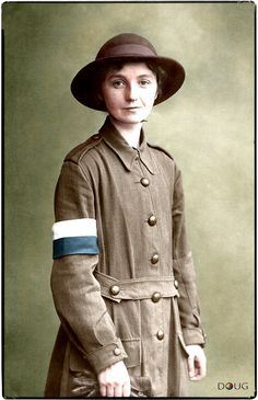 Queen Mary's Army Auxiliary Corps Signaller c. In 1917 she joined the WAAC most probably as a Telegraphist and worked in the Boulogne area - as Forewoman Merson, no. ('Forewoman' was the equivalent to a NCO Sergeant) ~ Ww1 History, Women In History, Ww1 Soldiers, Wwi, World War One, First World, Pin Up, War Photography, Military Women