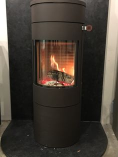 The Rais Viva 360 degree rotating woodburning stove. Can be customised to suit your needs. Now on live display in our Colney Heath Showroom