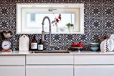 Kichen # black tiles # Marocco prints
