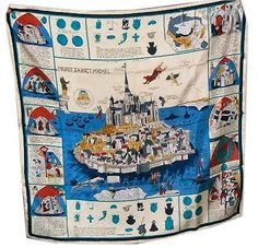 "Mont Sainct Michel (from <a href=""http://piwigo.hermesscarf.com/picture?/1318/category/151-white_cream"">HSCI Hermes Scarf Photo Catalogue</a>)"