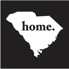 SOUTH CAROLINA HOME STATE - CAR - TRUCK - LAPTOP -DECAL STICKER