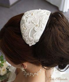 ボンネかわいいー Gatsby Headband, Head Accessories, Headgear, Fascinator, Veil, Wedding Hairstyles, Diy And Crafts, Dream Wedding, Naver