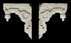 Pair of painted white wood corbels: Architectural Salvage Online Store, Buy Altered Antiques | OGTstore.com