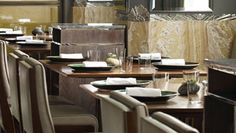 About Fera at Claridge's, Simon Rogan & farm and suppliers Luxury Restaurant, Restaurant Bar, Luxury Bar, Rhubarb And Custard, Places To Eat, Fine Dining, London, Modern