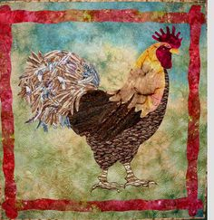 Struttin' My Stuff quilt by Nancy Sterett Martin, rooster