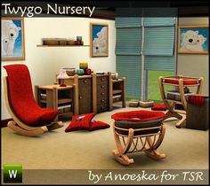 Nursery with a 1-tile crib (for baby's only), 1 tile dressers, a decorative…