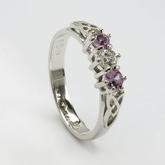 celtic rings | Trinity Pink Sapphire Ring (C-746) - Celtic Engagement Rings