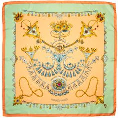 "Hermes Scarf ""Parures Des Sables"" by Laurence Bourthoumieux 