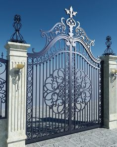 A storage is beneficial for a lot of functions. On the identical time, it additionally provides a di. Wrought Iron Driveway Gates, Metal Garden Gates, Metal Gates, Wrought Iron Doors, Front Gates, Entrance Gates, Fence Gate Design, Front Gate Design, Main Gate Design