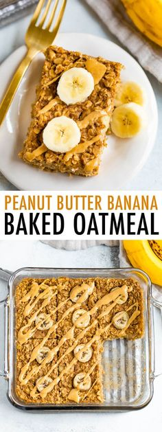 This delicious peanut butter banana baked oatmeal features the best oatmeal combo ever — peanut butter and banana. You'll love prepping this easy baked oatmeal for the week. One of my favorite oatmeal recipes to [. Peanut Butter Roll, Peanut Butter Oatmeal, Best Oatmeal, Baked Oatmeal, Baked Oats, Best Nutrition Food, Good Healthy Recipes, Healthy Food, No Calorie Foods
