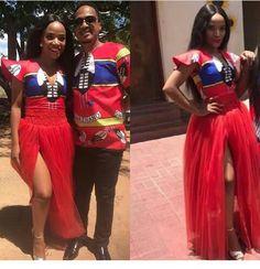 African Wedding Attire, African Attire, African Wear, African Weddings, South African Traditional Dresses, Traditional Wedding Dresses, Traditional Outfits, African Print Dresses, African Print Fashion