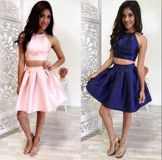 Homecoming Dresses, Short Prom Dress, Prom dress, Two pieces, Cute Homecoming…