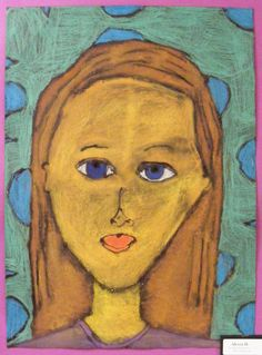 Field Elementary Art Blog!: Glue-Line Portraits 2011! XL