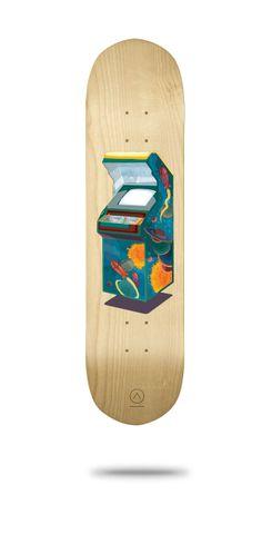 Arcade Skateboard Decks by DRIEHOEK, via Behance
