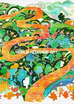 【位置情報仮】#0439-1 #リオ・プラタノ #生態系保護区 #ホンジュラス共和国 #Río-Plátano Biosphere Reserve_ #Honduras_ HN_ #Central-America_ in Danger (2011) , Natural_ (vii)(viii)(ix)(x)N15 44 40 W84 40 30_ 1982_ 350,000ha_ 150,000ha_ Ref:196 #WorldHeritage #Art #KoichiMatsuda