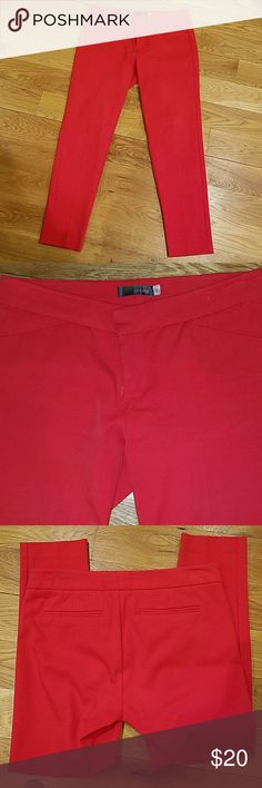 "Crosby red skinny pants Waist is 30"", inseam is 28"" (I wore as a slight capri). Skinny and look great with heels. Make an offer! crosby Pants Skinny"