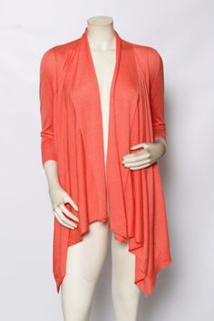 Rondina Etcetera Coral Fly Away Wool & Silk Cardigan Sweater Xs S M L Nwt $295