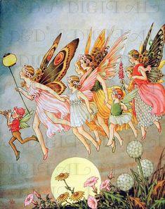 FAIRIES Rush To Carnival  Vintage Fairy by DandDDigitalDelights, $1.99
