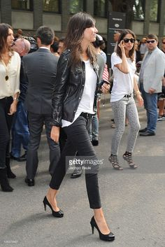 Emanuelle Alt attends the Emporio Armani Spring/Summer 2012 fashion show as part Milan Womenswear Fashion Week on September 24, 2011 in Milan, Italy.
