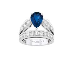 Sapphire #engagementrings are serious on-point - @chaumet Joséphine #diamond and #sapphire engagement ring #bridal #luxury #chaumet