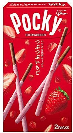Glico Pocky Made in Japan Japanese Snacks, Japanese Sweets, Japanese Food, Japanese Packaging, Perfect Chocolate Chip Cookies, Chocolate Biscuits, Food Packaging Design, Chocolate Packaging, Chocolate Strawberries