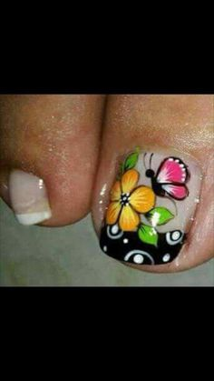 Toe Nail Designs, French Nails, Spring Nails, Toe Nails, Pedicure, Hair Beauty, Nail Art, Pretty Pedicures, Designed Nails