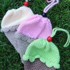 Free pattern Crochet Ice-Cream Cone/Cupcake Bag Pattern - Look At What I Made