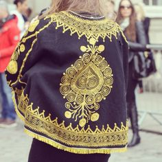 London Street Style at Trendbridged.com #embroidery #poncho