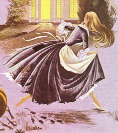 Cinderella - Vintage illustratie Storybook Print - decanen A Book of Fairy Tales - papier Ephemera