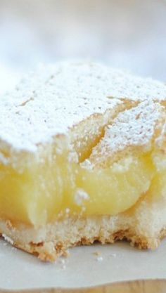 Ina Garten's Lemon Bars...you know it's going to be creamy and delicious when the recipe calls for flour instead of cornstarch...